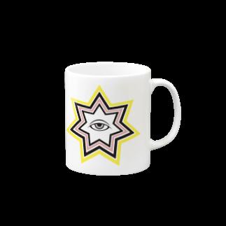 呪術と魔法の銀孔雀の宵の明星マグカップ