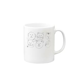 どうぶつたくさん Mugs