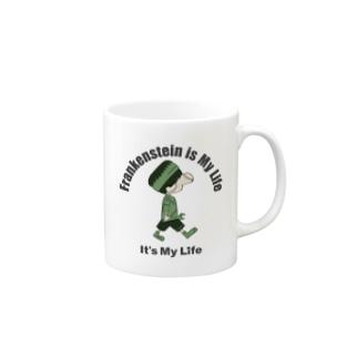 It's My Life / Boy:Frankenstein Mugs