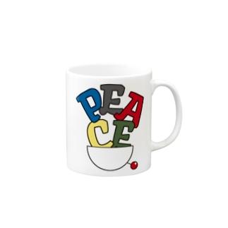 PEACE色-01 Mugs