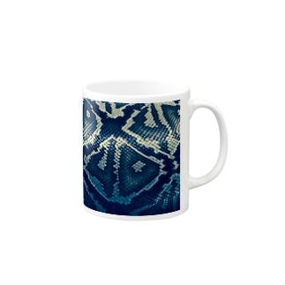 ヘビ柄 Mugs