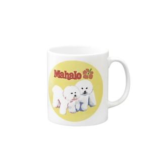 mahalo's bichon y-01 マグカップ