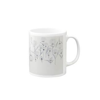 ホワイトローズ Mugs