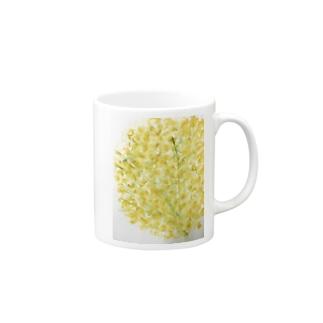 黄色いお花の Mugs