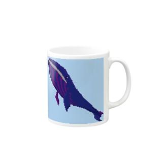 ドット くじら Mugs