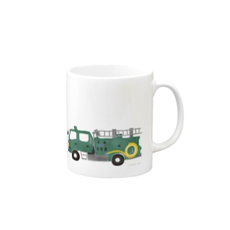 緑の消防車 Mugs