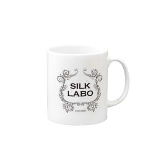 SILKロゴ(黒) Mugs