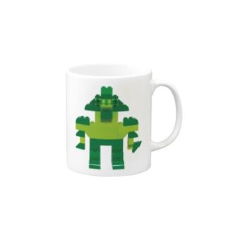 ロボロボ(緑) Mugs