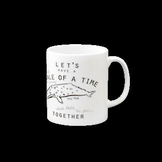 クジラのマグカップ屋さん。プラスのコククジラのマグカップ Mugs