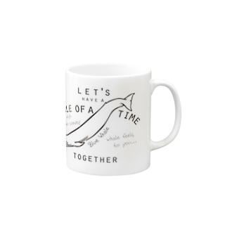 シロナガスクジラのマグカップ マグカップ