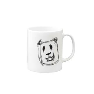 怖いパンダ Mugs