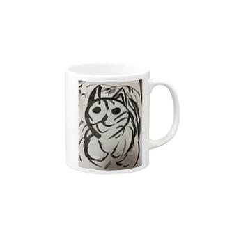 飲む気の失せる猫 Mugs