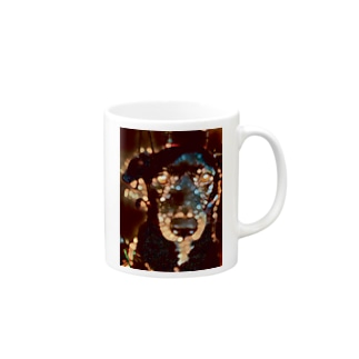 Bokeh Bubbles blackdog Mugs