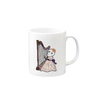 3738go ハープ Mugs