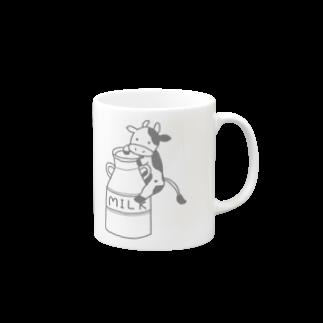 Saoriのミルク缶にしがみつくモーモーさん Mugs