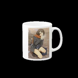 冬の待ち合わせ マグカップ