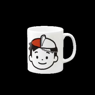 のりま屋の体操帽子くん Mugs