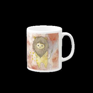 フクモトエミのしし座のネコ Mugs