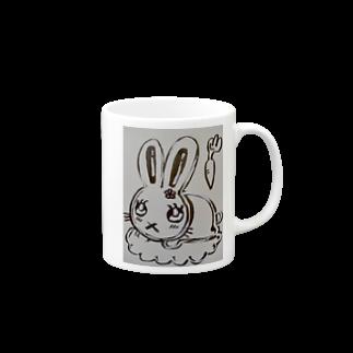 絵描きのまゆんのデザインのうさこちゃん Mugs