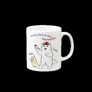 文鳥堂の全日本ヨボヨボ連盟公式グッズマグカップ