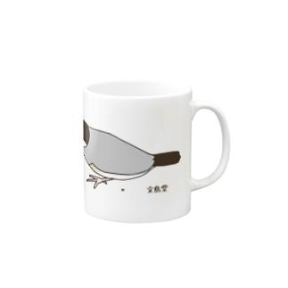 雑穀を食べる文鳥 マグカップ