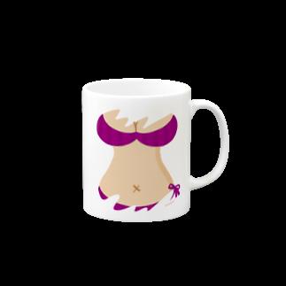 りおたのおっぱいTシャツ(PURPLE) Mugs