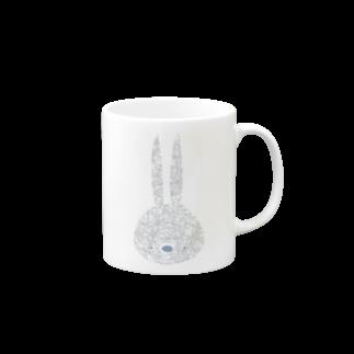 mashibuchiのうさぎさんシンプル Mugs