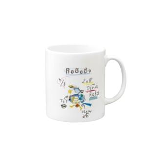 ROBOBO「ぴにゃロボ」 Mugs