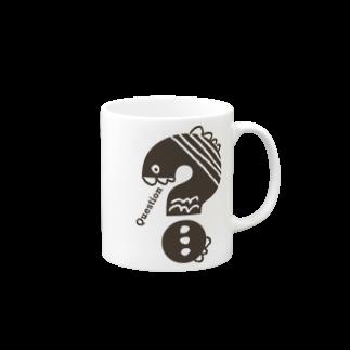 〈サチコヤマサキ〉ショップのクエスチョンの魚 Mugs