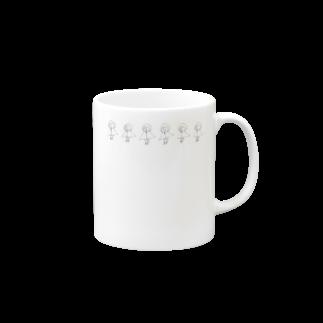 のたのパーカのものども(モノクロ) Mugs