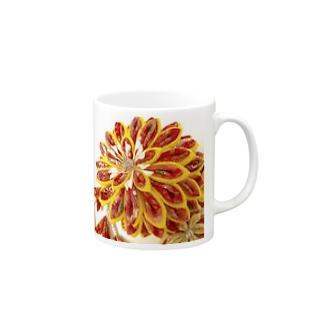赤花咲いた Mugs