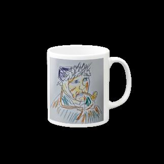✈オノウエ コウキのゴッホの自画像? Mugs
