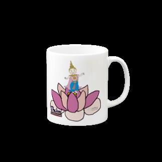 uwotomoの【THAILAND】蓮と踊り子 Mugs