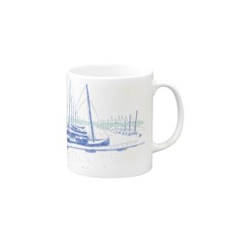 ヨット Mugs