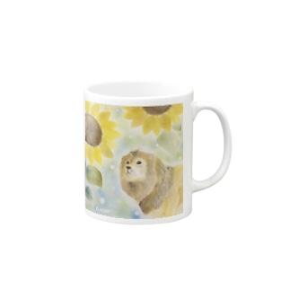 ひまわりとライオン Mugs