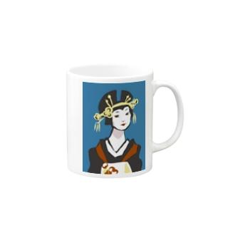 花魁 Mugs