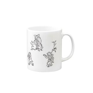 鳥獣戯画3 Mugs