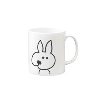寄り目うさぎ 001 Mugs