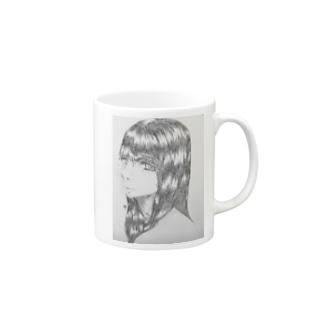 黒髪の女の子 Mugs
