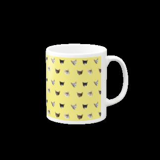 保護猫カフェ「駒猫」さん家のNo.8 フルーツ4兄弟 ドット♪ Mugs