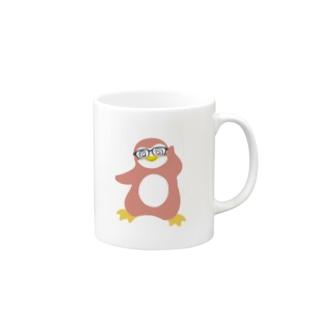 インテリペンギンピンク Mugs