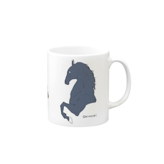made blueのEquine design Mugs