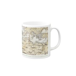 スペインの切手:スペイン古地図 王立地図学会100周年 Mugs