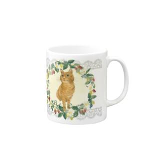 茶トラ猫マグ(カントリー風) Mugs