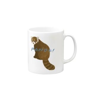 レッサーパンダ(文字有り) Mugs