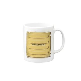 点字ブロック(視覚障害者誘導ブロック) Mugs