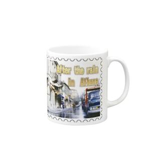 ギリシャ:雨上がりのアテネ★白地の製品だけご利用ください!! After the rain in Athens/Greece★Recommend for white base products only !! Mugs