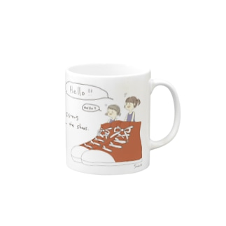 Sister in the shoes(レッド) Mugs