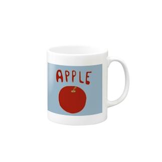 pochette design studioのりんご Mugs