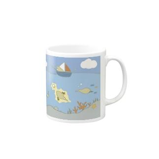 Kiwi in the Sea Mugs